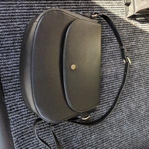 Faux Leather Crossbody Saddle Bag